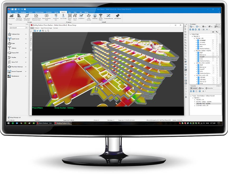 iBwave Design showing 3D modeling